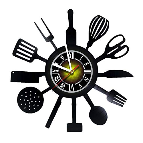 toffy workshop cook tools vinyl wall clock get unique gifts presents for birthday