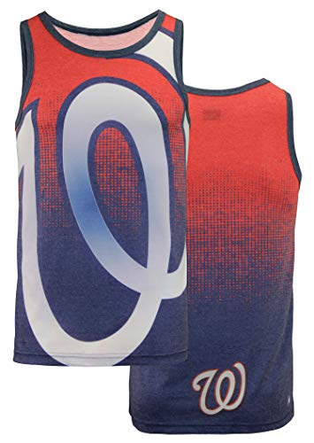 Klew Washington Nationals Gradient Big Logo Tank - Mens Double Extra Large