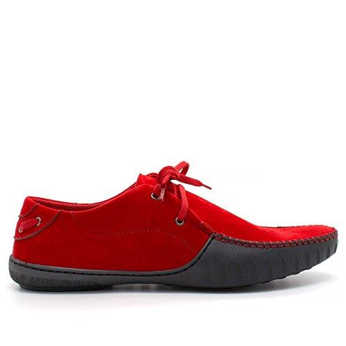 Sandalen Rot mit Keilabsatz Herren London Plateau Footwear Durchgängies qxC07wwI4