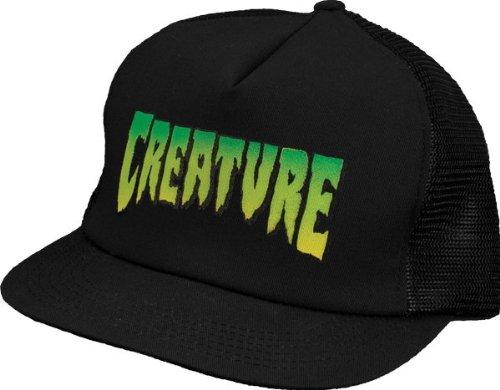 Creature Logo Trucker Mesh Hat [Black]