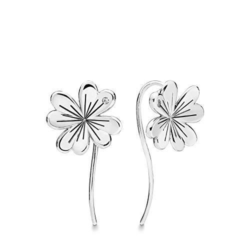PANDORA Lucky Four-Leaf Clovers 925 Sterling Silver Dangles Earrings - - Lucky Earrings Clover