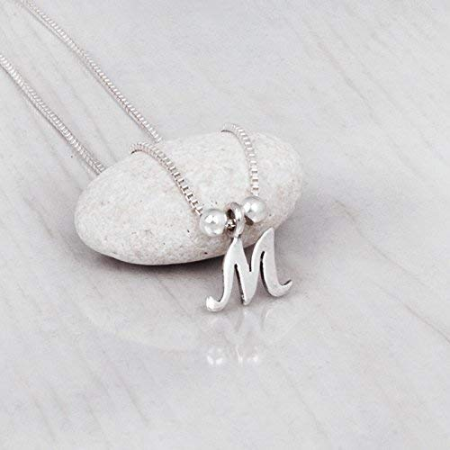 Sterling Silver Tiny Letter Necklace - Personalized Initial Charm Layered Necklace - Designer Handmade at a Custom Length -