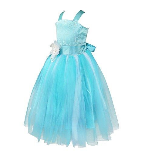Freebily Vestido de Gala Fiesta Ceremonia Bautizo Disfraz Princesa Vestido Largo de Boda para Dama de Honor Niña Chica (2 a 14 Años): Amazon.es: Ropa y ...