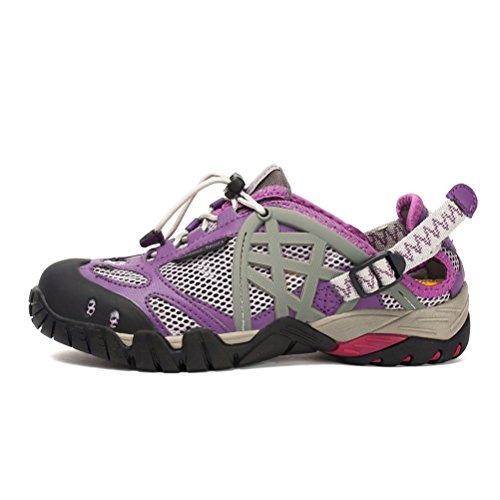 Outdoor 40 Climbing for Running Summer purple Shoes Shoes Breathable Water 35 Women's Mesh Trekking Upper Super Hiking Shoes ZPL Sports Size a0qwH0