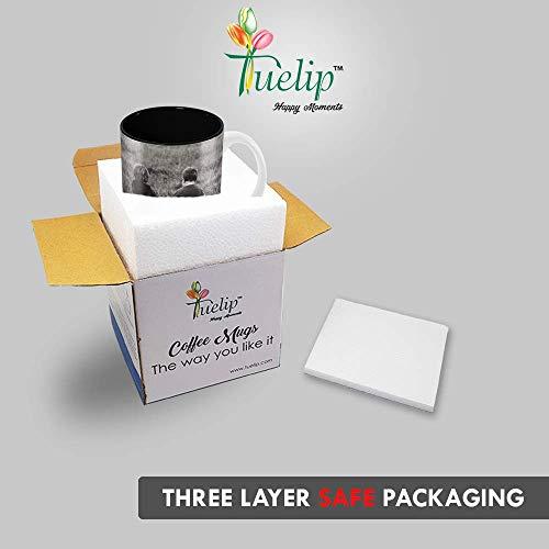 "Tuelip""Tere Jaisa Yaar Kaha"" Quotes Best Friend Printed Mug 350 ML Ceramic Hindi Calligraphy Printed Mug"