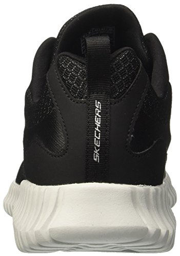 Skechers Baskets Homme Elite black grey Flex Enfiler Noir EIxEq4drAw