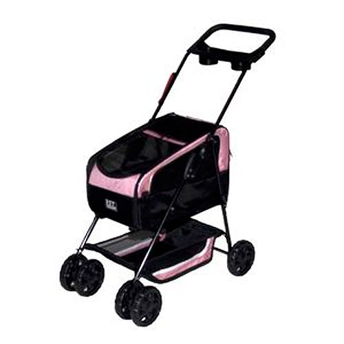 Amazon.com: CARRIOLA para MASCOTA PET GEAR modelo TRAVEL SYSTEM II color Pink: Health & Personal Care