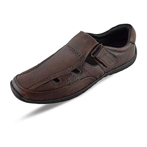 trotter shoes Men's Roman Sandals Brown