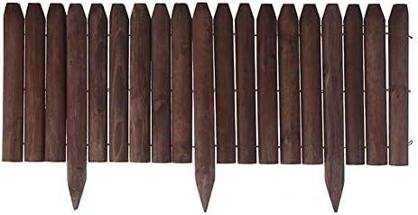LJFYMX Vallas de Madera Jardin Panel de Cerca Independiente con piquete, Punta de Madera Lisa Vallas para Jardin (Size : 118×26cm): Amazon.es: Hogar