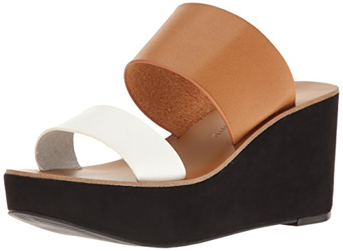 Chinese Laundry Women's Ollie Wedge Slide Sandal, Saddle Smooth,  8.5 M US