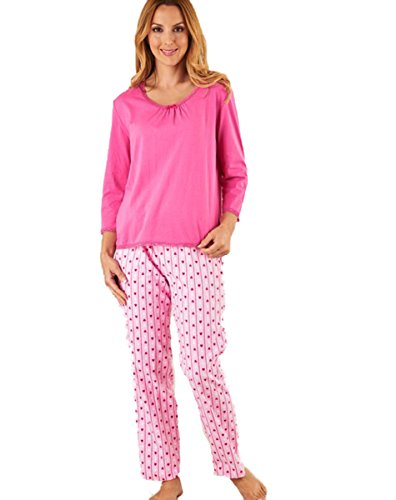 Pink Donna pezzi due Slenderella Pigiama 6AqpwIw