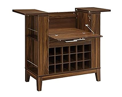 Amazon Com Coaster 100130 Co Wine Bar Cabinet Dark Walnut Kitchen