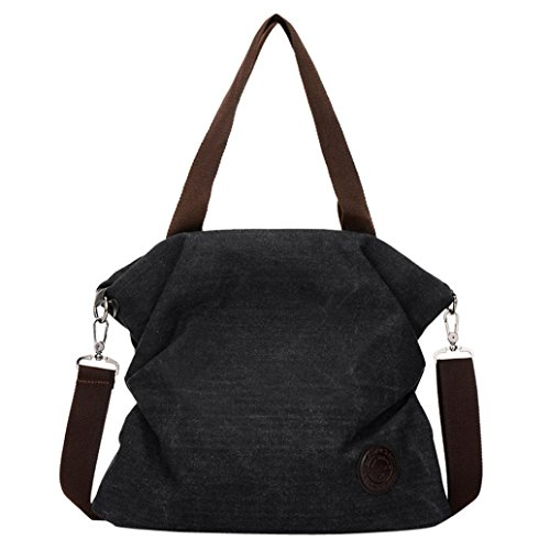 Messenger Women Retro Women Bag Tote Black Fashion Satchel Handbags Canvas Beach Shoulder Handbag fwT04qB