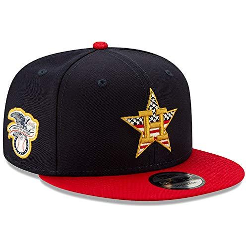 (New Era Houston Astros 2019 Stars & Stripes 4th of July 950 9FIFTY Snapback Adjustable Cap Hat)