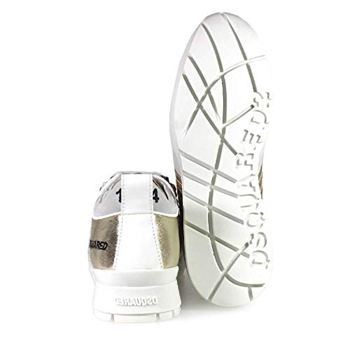 Femme 251 Baskets Automne 2019 Chaussures hiver Doré Glitter Dsquared2 TUxF5Pn4