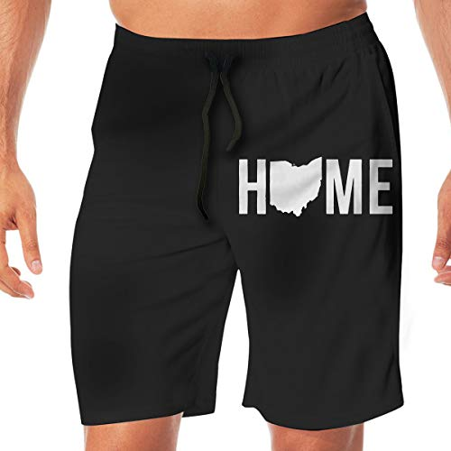 - Home State - Ohio Men's Beach Shorts Casual Shorts Swim Trunks