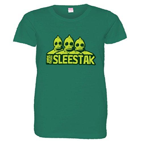 PleaseMeTees Womens Sleestaks Land of The Lost Monsters HQ Tee-Kelly-XL