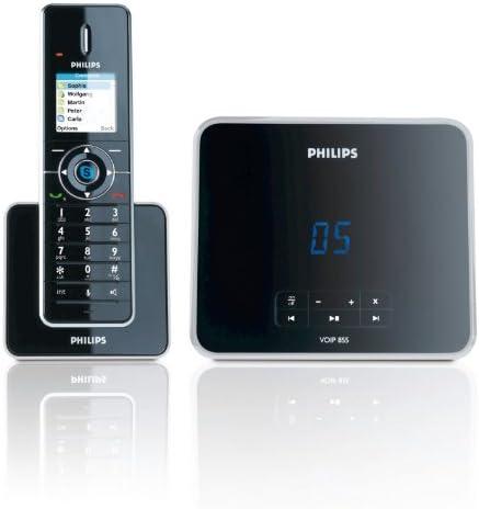 Philips VOIP8551B Teléfono DECT/Internet, hasta 4 Bases, hasta 4 microteléfonos, Oui, Auricular con 5 Niveles y Control de Volumen de Altavoz, 200 entradas, hasta 30 Minutos [Producto Importado]: Amazon.es: Electrónica