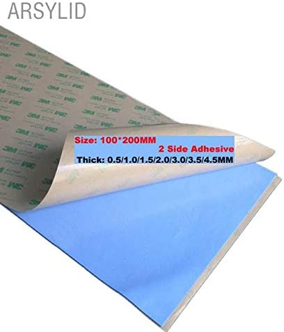 Blade Color: 2 Side Adhesive, Blade Quantity: 3.5mm Rarido High Efficient Thermal Conductivity 3.6W 100200mm 1 Single Side Conductive Heatsink Plaster Thermal pad for Heat Sink Radiator
