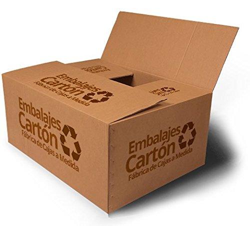 Pack 10 unidades Caja Cartón | Medidas 20 cm x 40 cm x 40 cm | Cartón Corrugado | Color Marrón: Amazon.es: Hogar