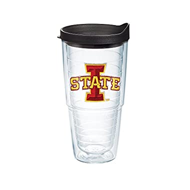 Tervis 1041918 Iowa State University Emblem Individual Tumbler with Black lid, 24 oz, Clear