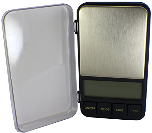 Duda Energy Scale-I2000x500g0.01g Pocket Scale Auto Large Weighing Surface Area with Backlit Screen 5.2 Length 1.3 Height 6.3 Width 5.2 Length 6.3 Width 1.3 Height