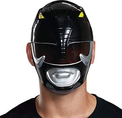 Disguise Men's Black Ranger Adult Mask, One -