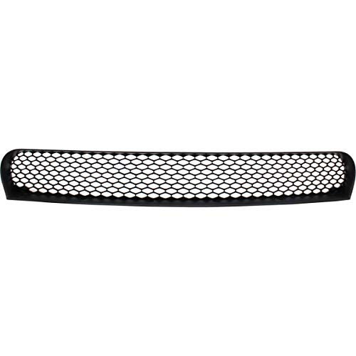 New Front Bumper Grille For 2015-2017 Dodge Charger, Center, Textured Black, with Hood Scoop, without ACC CH1036137 ()