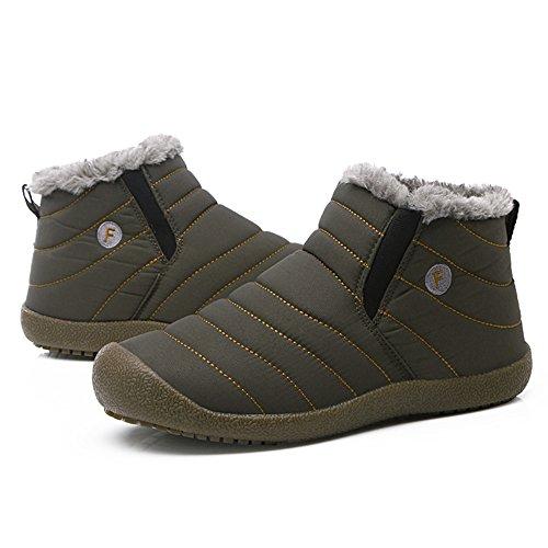 Warme Schneestiefel, JACKSHIBO Herren Damen Outdoor Winterstiefel Bequem Short Schlupfstiefel