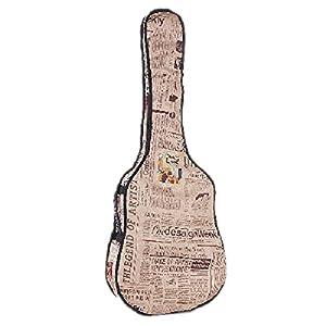 Hohe Qualität Retro Zeitung Stil 420D Oxford Folk Gitarre Tasche Schutzhülle für 41106,7cm Gitarre 41inches