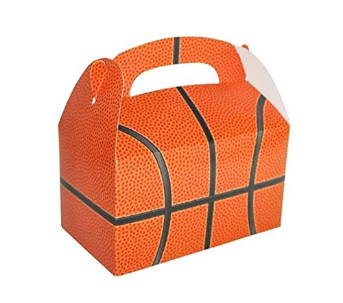 Sports Ball Treat Box for Birthday Party Favors, Decorations and Gifts (Set of 12) (Basketball) -