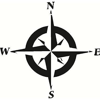 amazon com compass rose n e s w vinyl wall art north east south