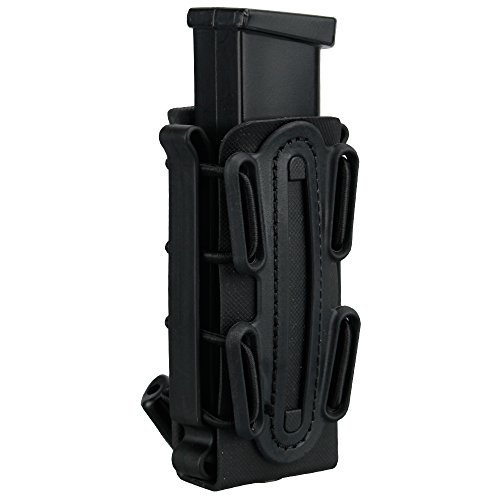 IDOGEAR 9mm Pistol Magazine Pouch Tactical Fastmag Soft Shell Mag Carrier Hunting Airsoft Gear (Black)