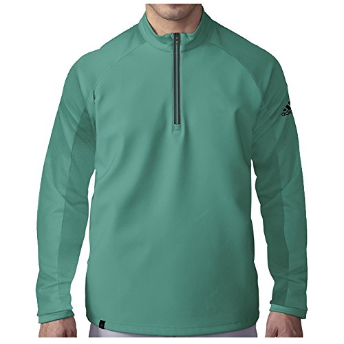 adidas Golf Men's Climacool Competition 1/4 Zip Layering Top, EQT Green S, Small