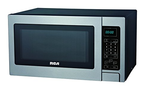 RCA 1.1 Cubic Foot Microwave, Stainless Steel by RCA