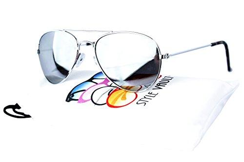 Kd202-vp Kids Childrens Aviator Mirrored Sunglasses (Mr Silver, Mirrored) -