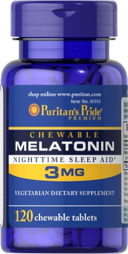 Fierté croquer mélatonine nocturne de Puritan Sleep Aid 3 mg-120 à croquer