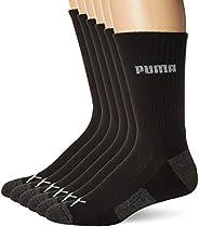 PUMA mens Men's 6 Pack Crew Socks S