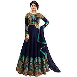 41eaV%2BBNubL. SS320 Smily Creation Women's Silk Embroidered Anarkali Long Gown