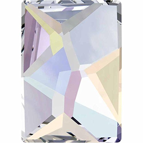 2520 Swarovski Nail Art Gems & Flatback Crystal Shapes Cosmic | Crystal AB | 8x6mm - Pack of 20 | Small & Wholesale Packs ()