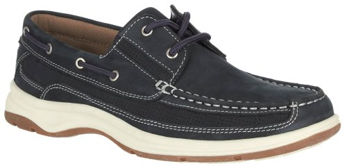 Reel Legends Mens Skipper Boat Shoes Navy