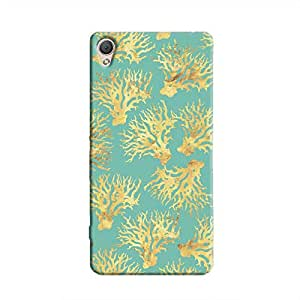 Cover it up - Blue Gold Nature Print Xperia M4 Hard Case