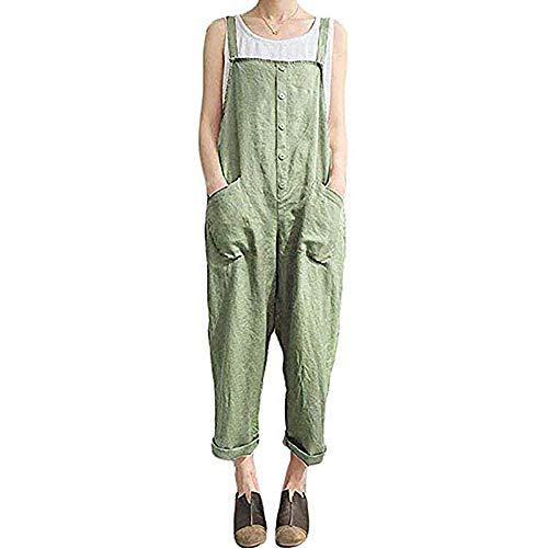 Gooket Women Plus Size Baggy Overalls Casual Wide Leg Haren Pants Rompers Jumpsuit Overalls Halloween Costume