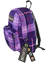 Trans by Jansport Purple Maxxter Silk Royal Plaid Backpack