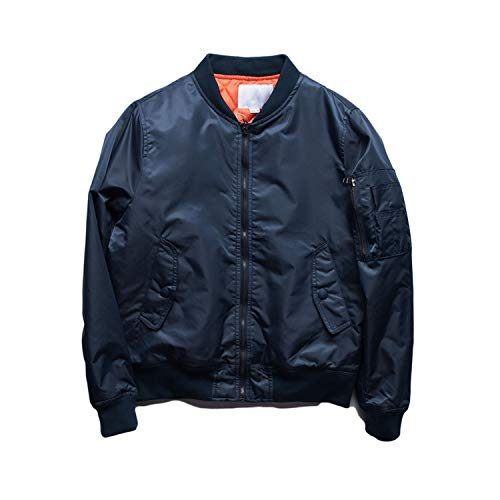 6799980ea57 Unisex Bomber Jacket Women Winter Pilots Outerwear Hip Hop Suit Winter  Windbreak,Navy Thick,