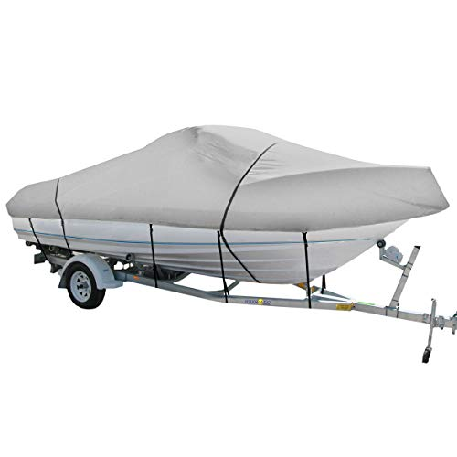 - Oceansouth Heavy Duty 100% Solution Dyed Polyester V-Hull Cuddy Cabin Boat Cover 17'4