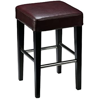 Amazon Com Cortesi Home Boulder Counter Stool In Genuine