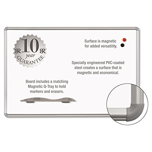 New-Best-Rite 219PH - Magne-Rite Magnetic Dry Erase Board, 96 x 48, White, Silver Frame - BLT219PH by Best Rite
