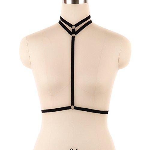 Libing Sujetador Ajustable de Jaula para el Cuerpo de Mujer Sujetador elástico Tops de lencería, Negro, Talla única: Amazon.es: Ropa y accesorios
