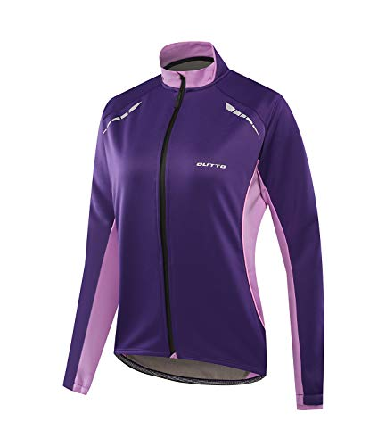 Outto Women's Cycling Thermal Jacket Softshell Winter Long Sleeve Windproof Jersey(Medium,18-EY - Jersey Sleeve Element Long